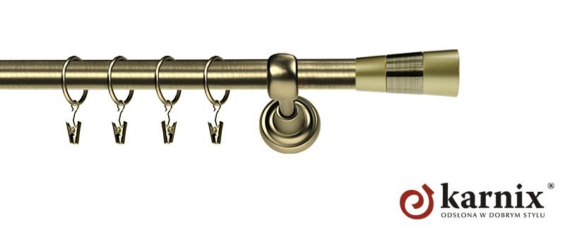 Karnisze Metalowe Rzymskie pojedynczy 19mm Doris antyk mosiądz