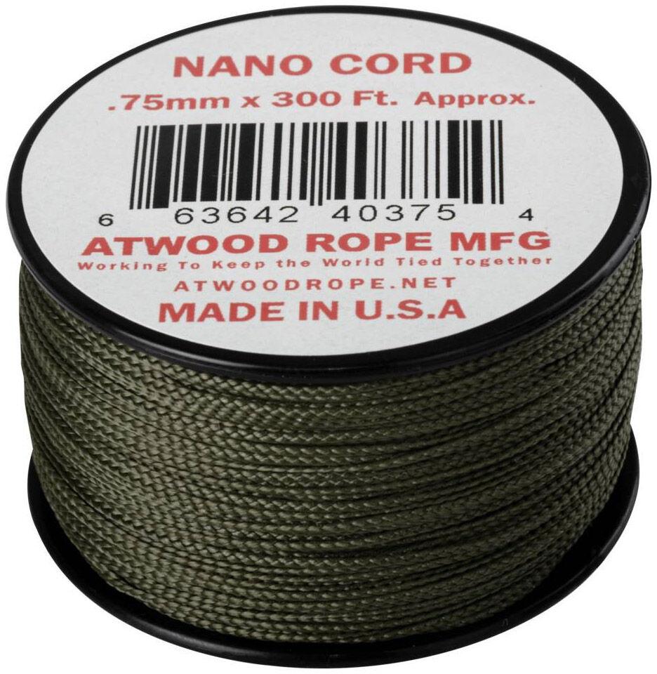 Linka Atwood Rope MFG Nano Cord 91 m - Olive Drab (CD-NC3-NL-32) H