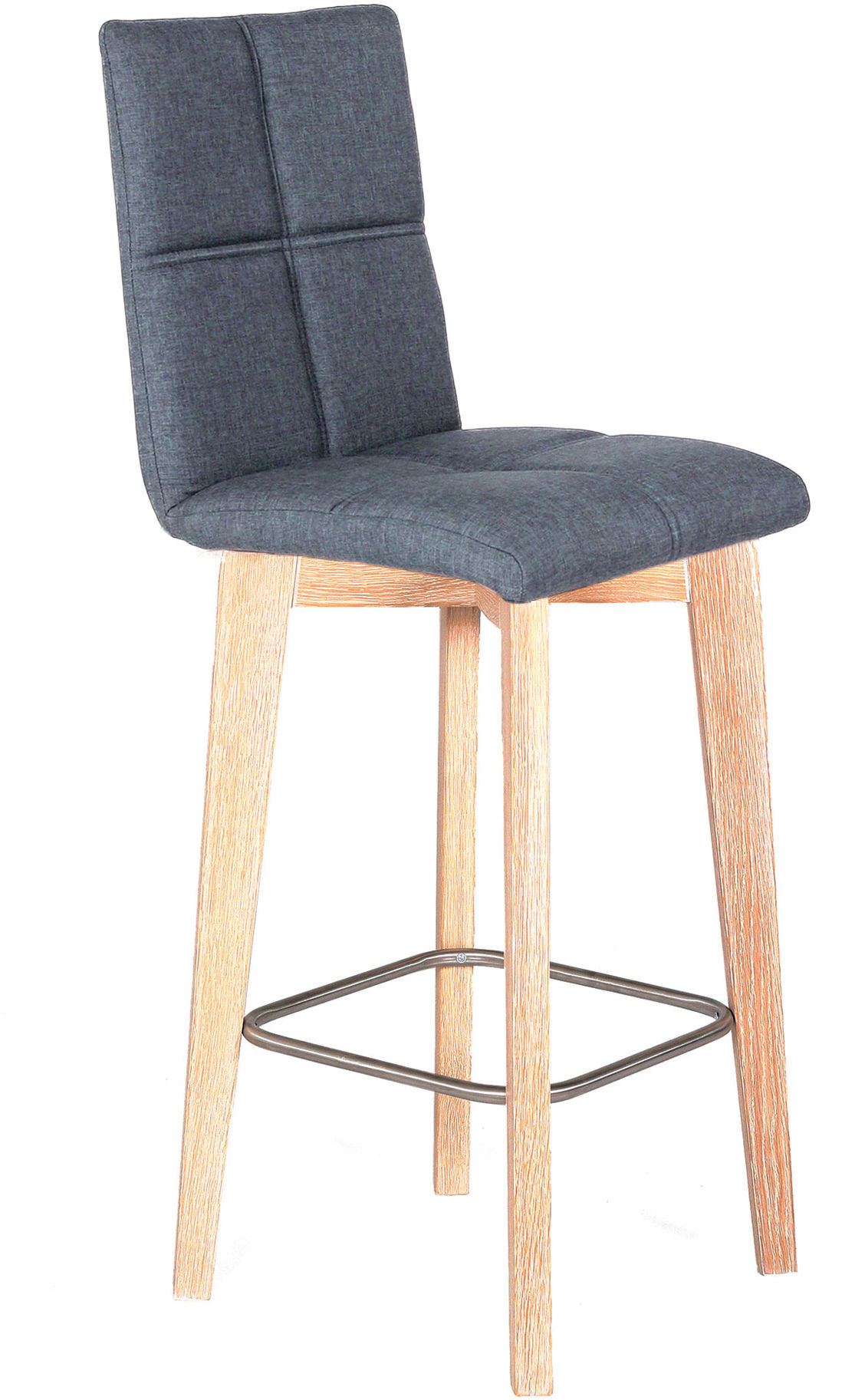Krzesło dębowe tapicerowane NK-33 barowe