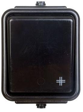 Cedar Łącznik hermetyczny natynkowy krzyżowy 10A IP44 czarny WNt-700C WNT700C05