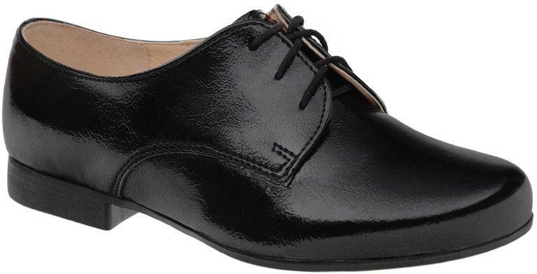 Półbuty buty komunijne Lakierki KORNECKI 4060 Czarne wizytowe - Czarny