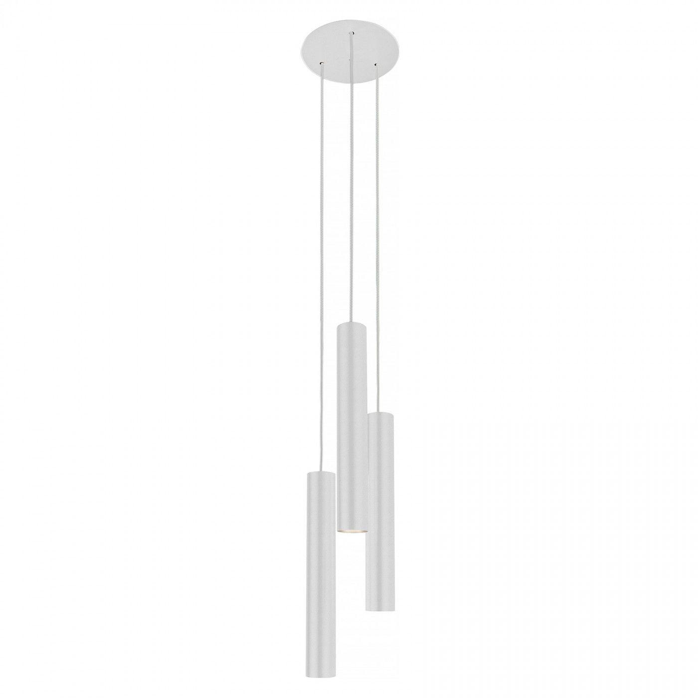 Lampa wisząca Eye L 8916 Nowodvorski Lighting potrójny biały zwis w nowoczesnym stylu