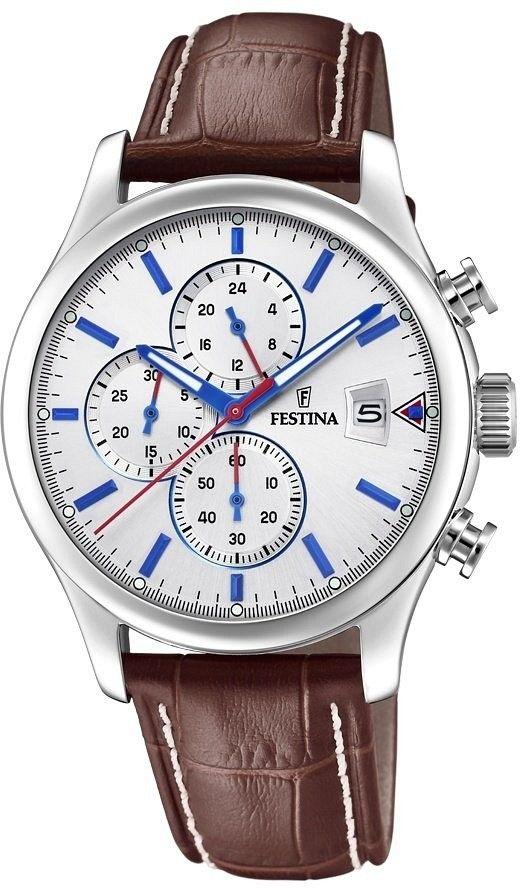 Zegarek Festina F20375-1 Timeless Chronograph - CENA DO NEGOCJACJI - DOSTAWA DHL GRATIS, KUPUJ BEZ RYZYKA - 100 dni na zwrot, możliwość wygrawerowania dowolnego tekstu.