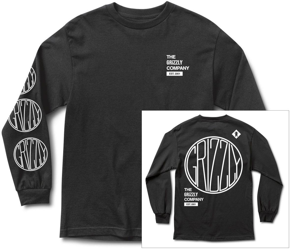 t-shirt męski GRIZZLY LOCOMOTIVE LS TEE Black