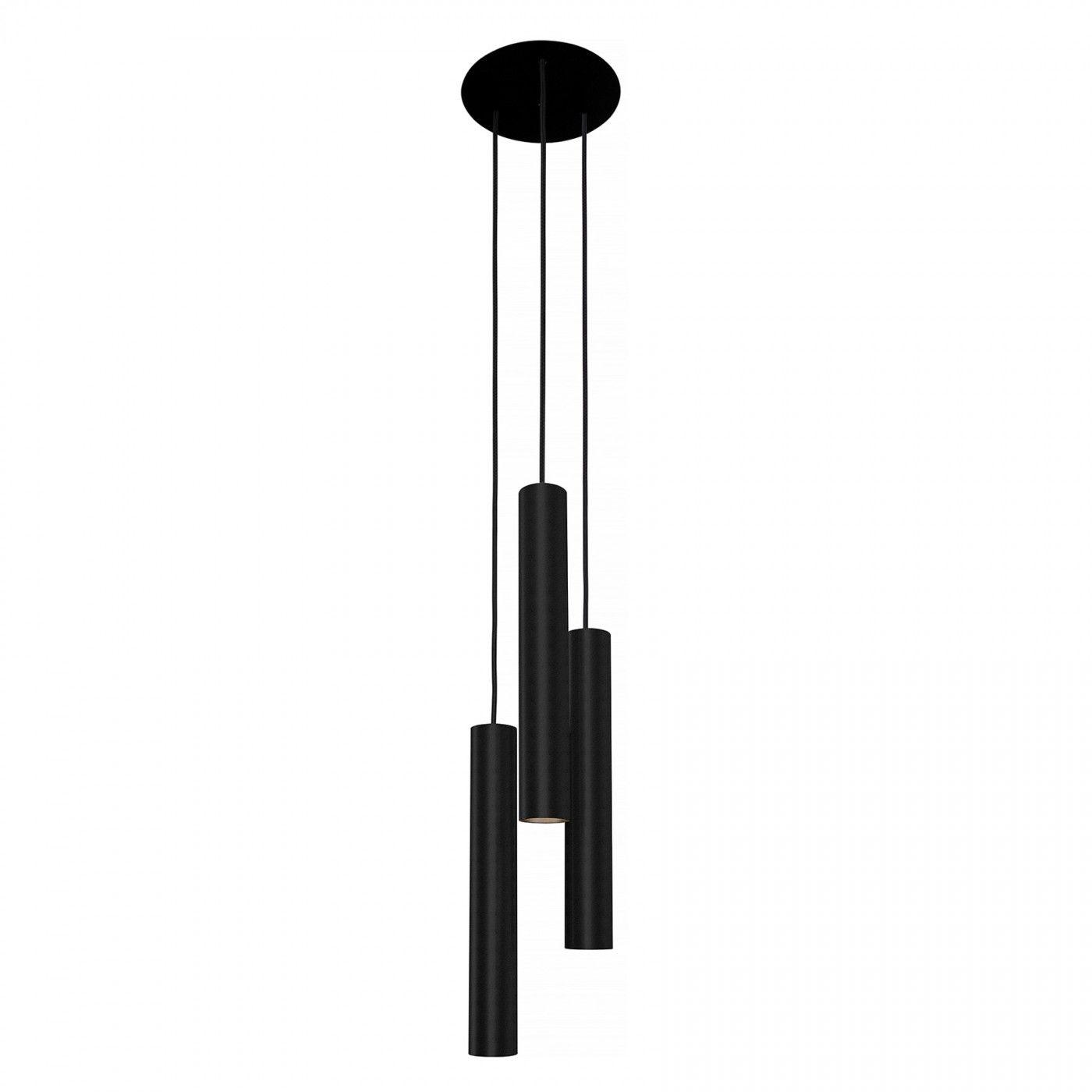 Lampa wisząca Eye L 8917 Nowodvorski Lighting potrójny czarny zwis w nowoczesnym stylu