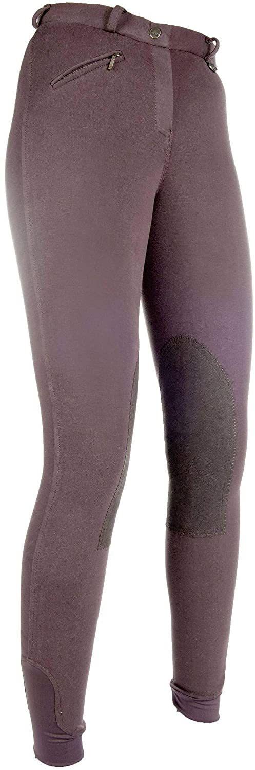 HKM 9064 bryczesy Penny Easy, spodnie dziewczęce, obszycie kolan, ciemnobrązowe/ciemnobrązowe, 170