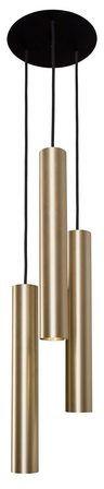 Lampa wisząca Eye L 8915 Nowodvorski Lighting potrójny mosiężny zwis w nowoczesnym stylu