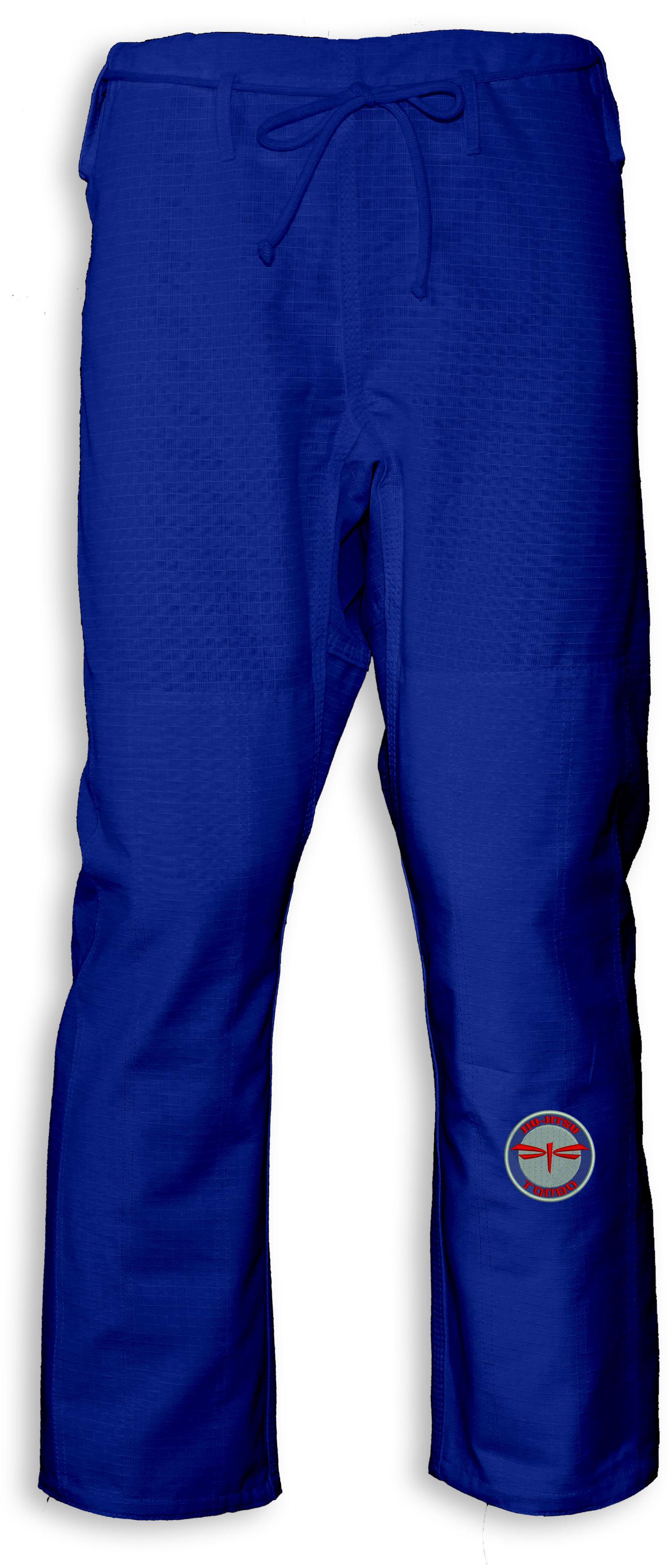 spodnie BJJ / Jiu-Jitsu NAKED-RIPSTOP, niebieskie (27 rozmiarów)