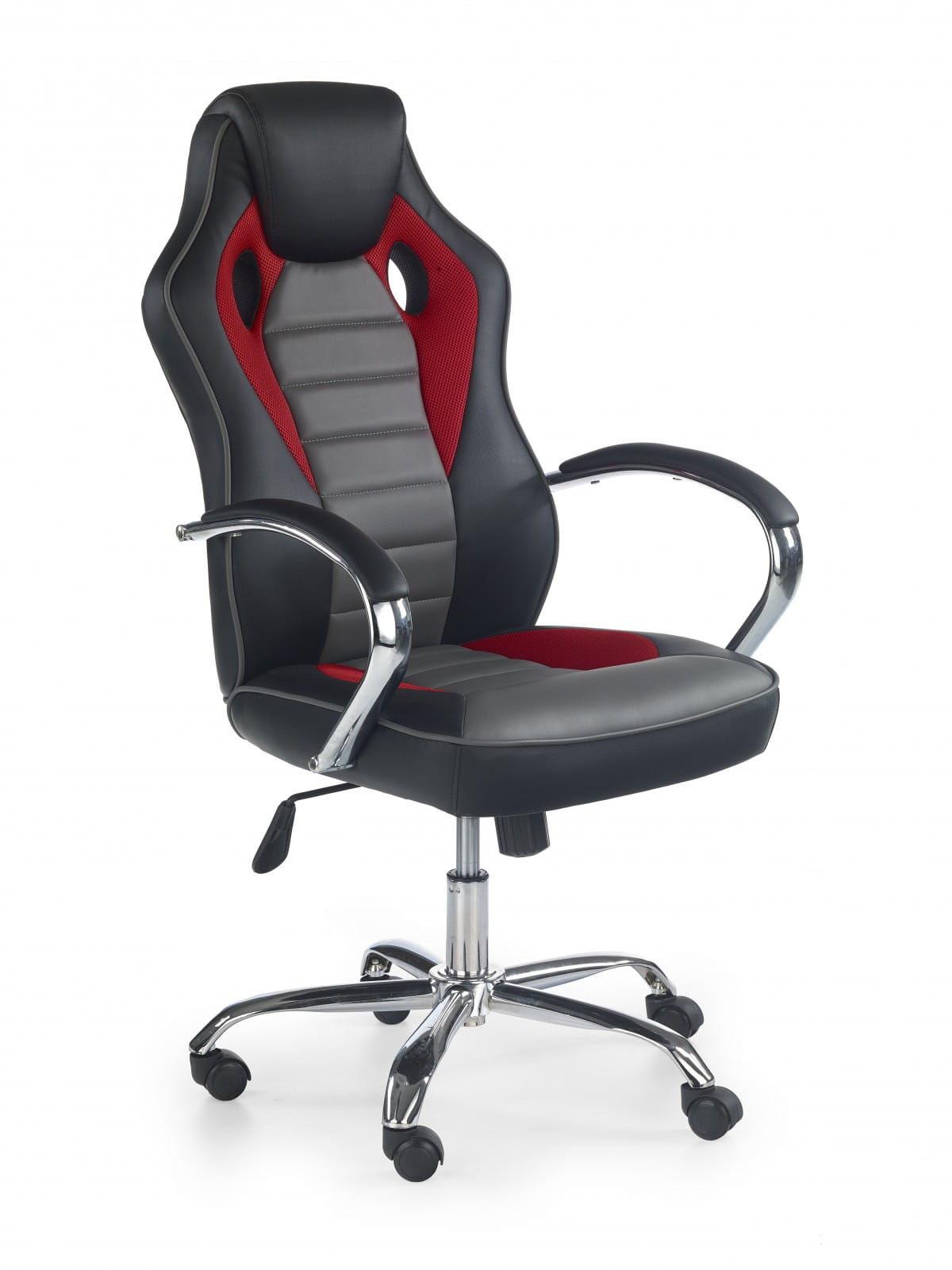 fotel gamingowy Halmar SCROLL czarny czerwony popielaty