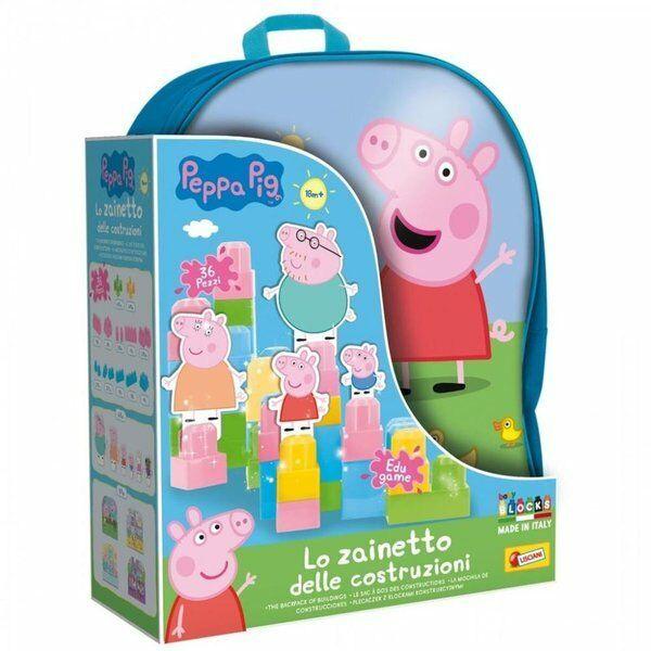Świnka Peppa - plecak z klockami konstrukcyjnymi - Lisciani