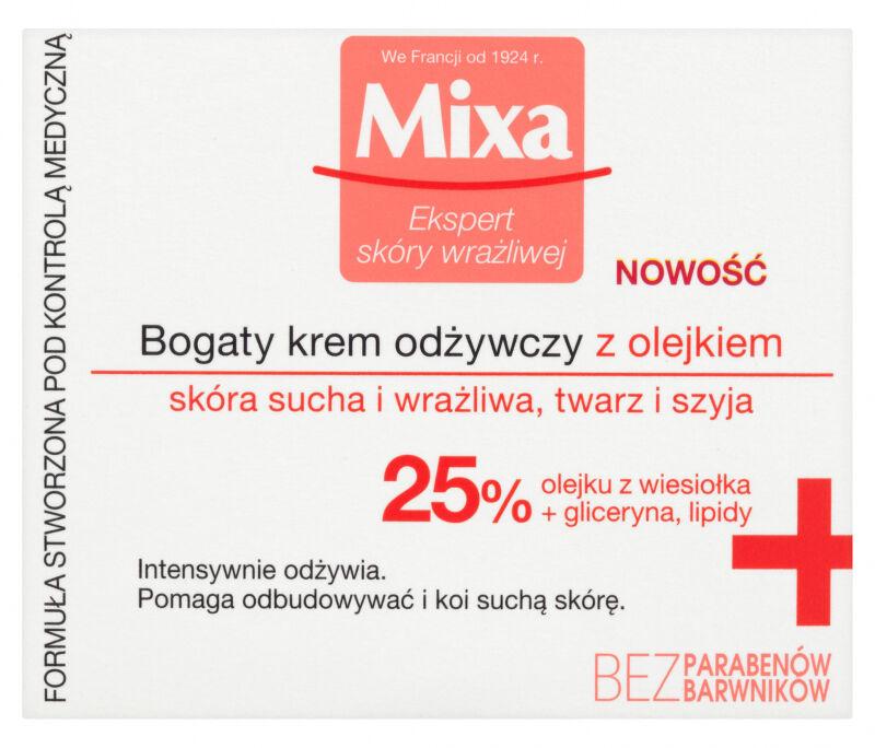 MIXA - Krem odżywczy z olejkiem z wiesiołka do skóry suchej i wrażliwej