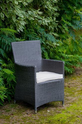 Krzesło tarasowe z szarego technorattanu