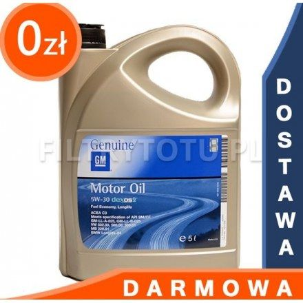 GM Dexos2 5W30 5l DARMOWA DOSTAWA