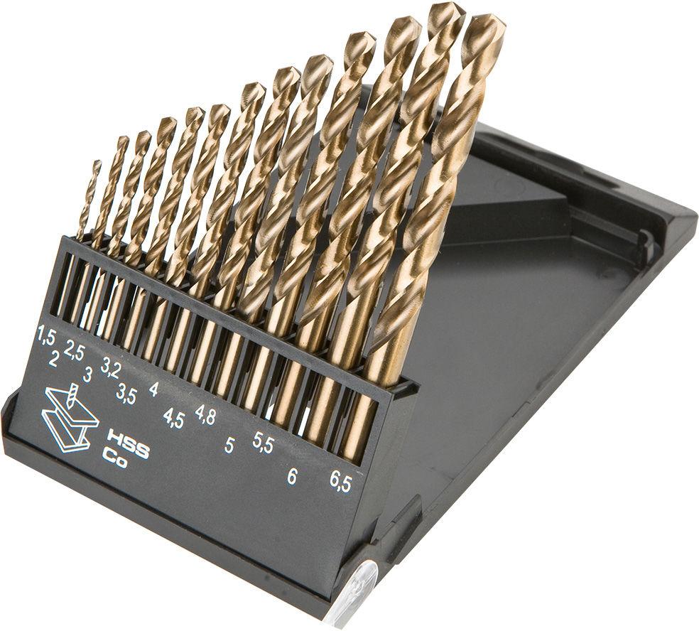 Wiertła do metalu HSS-Co 1.5-6.5 mm, zestaw 13 szt.