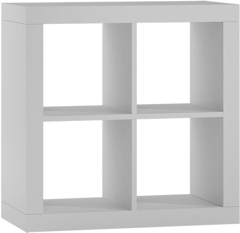 Minimalistyczny regał biały - Idris 3X
