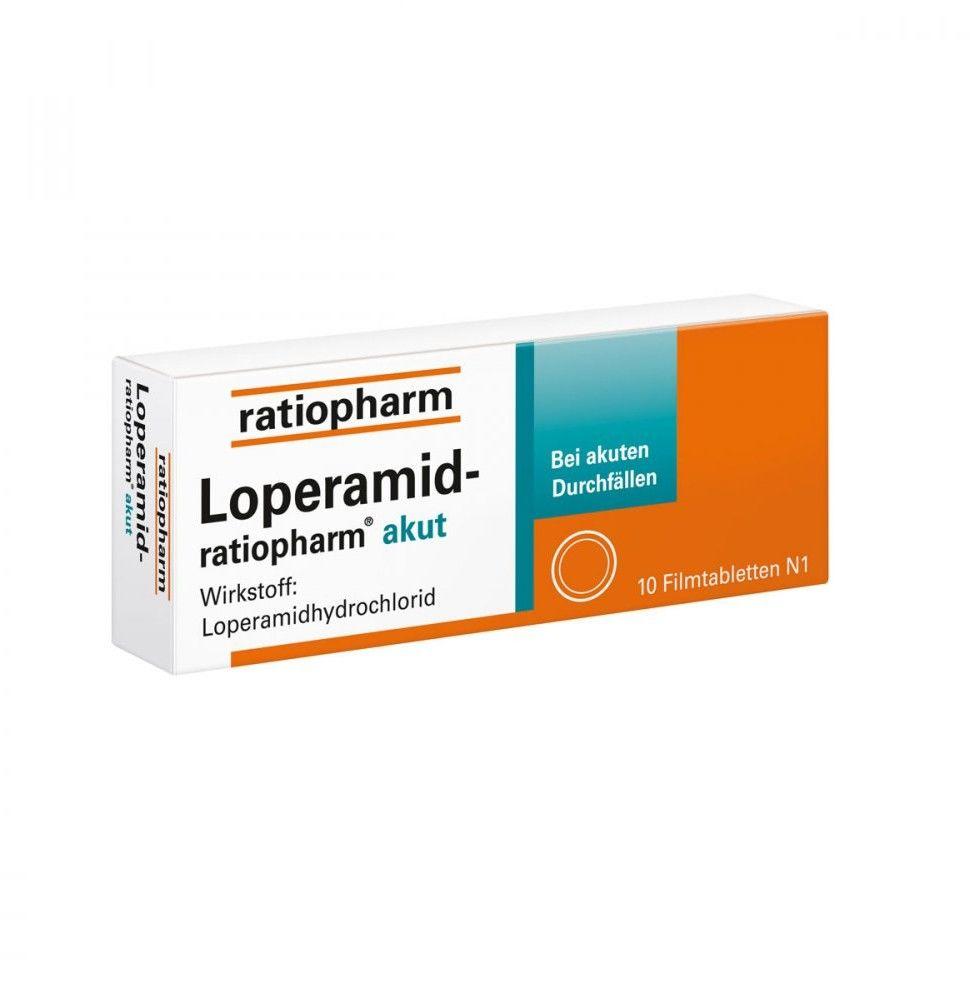Loperamid ratiopharm akut 2 mg Filmtabl.