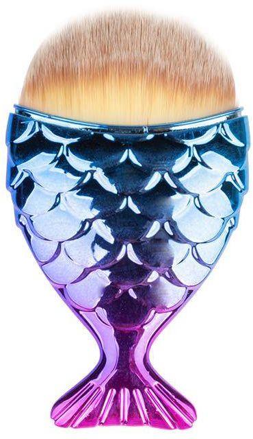 Pędzel do odpylania rybka pudrowy fioletowo-niebieski