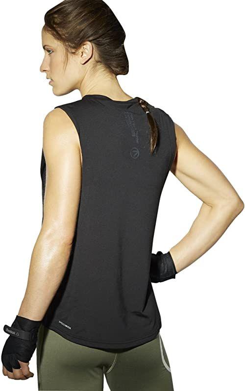 Reebok Damska koszulka bez rękawów Tlaf Tank, czarna, XS