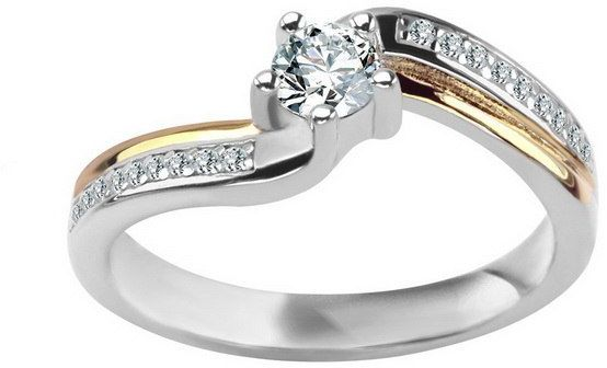 Srebrny pierścionek PCS6014 - Cyrkonia