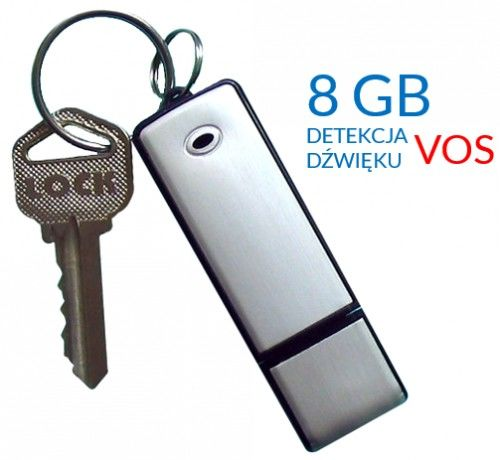 Dyktafon szpiegowski pendrive z detekcją dźwięku VOS Black-200