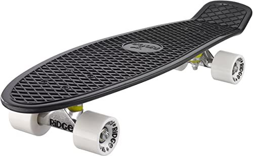 Ridge Deskorolka Big Brother nikiel 69 cm Mini Cruiser, czarna/biała