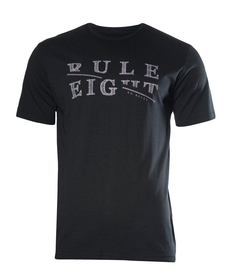 Czarny T-shirt Męski z Nadrukiem, Krótki Rękaw, Just Yuppi, Motywacyjny Napis TSJTYUP8226kol2black