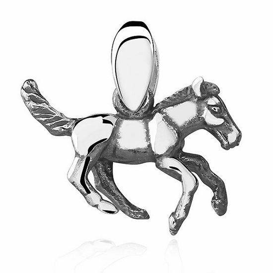 Elegancki rodowany srebrny wisior koń konik kucyk srebro 925 KS0078