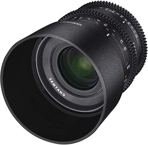 Samyang Obiektyw wideo 35 mm T1.3 do Fuji X  ręczny obiektyw Cine zaprojektowany do APS-C, stałogniskowy obiektyw wideo 35 mm do kamer bez lusterek Fuji-X, kolor czarny