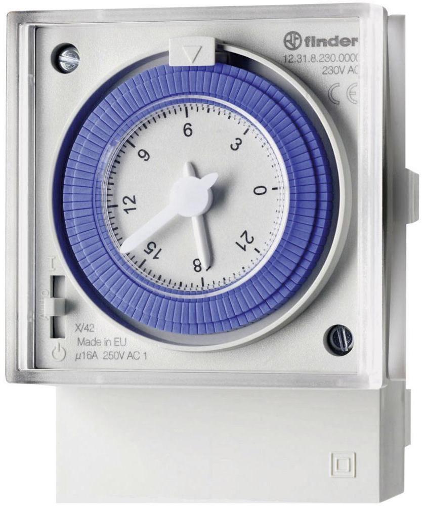 Programator dobowy mechaniczny Finder 12.31.8.230.0000 Programator dobowy mechaniczny 1CO 16A 230V AC Finder 12.31.8.230.0000