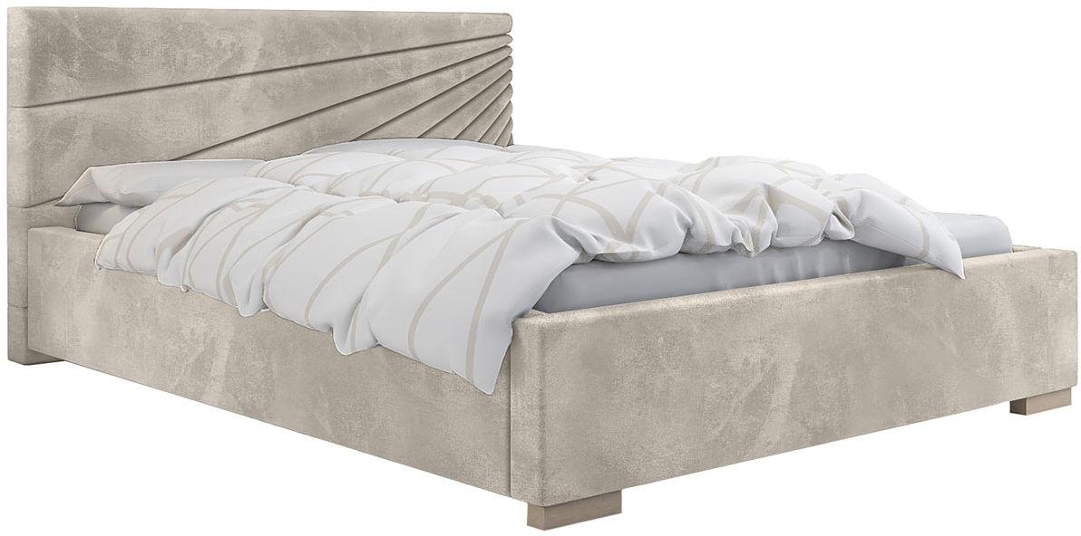 Pojedyncze łóżko ze stelażem 120x200 Lander 2X - 48 kolorów