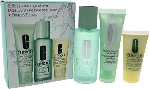 Clinique, 3 Steps Intro Skin Type I 3 Pz, Mydło W Płynie, Wielobarwny, U, Kobieta