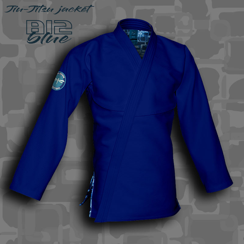 bluza BJJ / Jiu-Jitsu B12-BLUE, niebieska, 420g/m2 (21 rozmiarów)