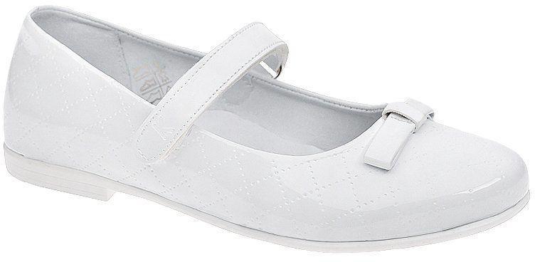 Balerinki buty komunijne KORNECKI 4431 Białe Lakierki - Biały