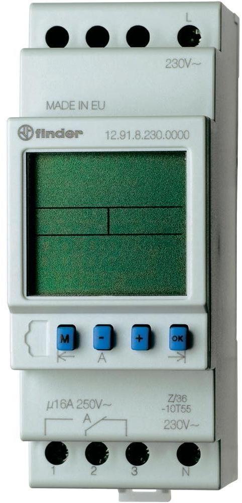 Zegar astronomiczny Finder 12.91.8.230.0000 Zegar astronomiczny 1CO 16A 230V AC Finder 12.91.8.230.0000
