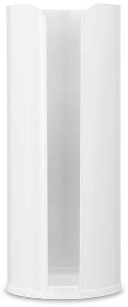 Brabantia - uchwyt na papier toaletowy renew collection - biały - biały