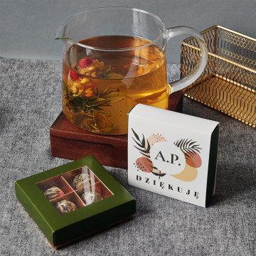 Inicjały dziękuję - Herbata kwitnąca