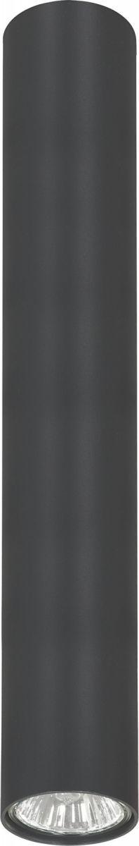 Plafon Eye L 5472 Nowodvorski Lighting grafitowa nowoczesna oprawa w kształcie tuby
