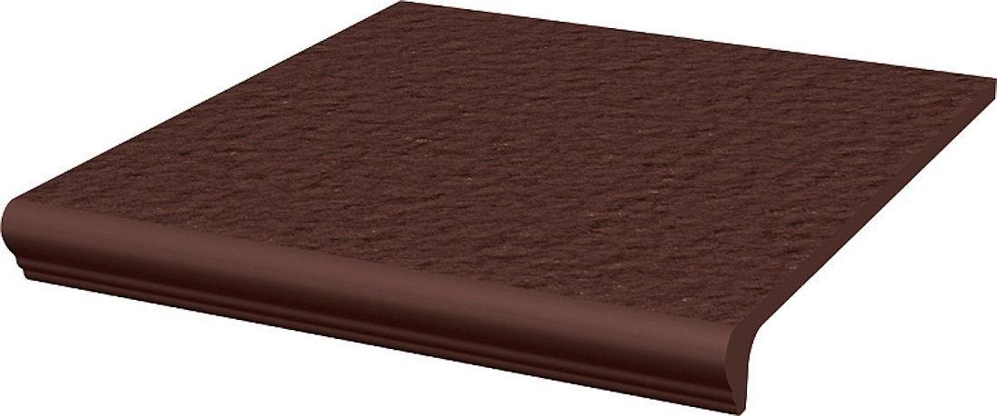CLOUD DURO BROWN stopnica z kapinosem prosta strukturalna 30x33x1,1
