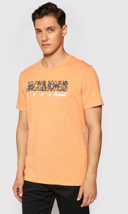 Jack&Jones T-Shirt Lefo 12186282 Pomarańczowy Regular Fit