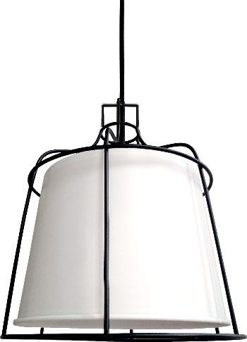 Light Prestige Dritto LP-123/1P S WH lampa wisząca metalowa rama klosz biały 1x60W E27 25 cm