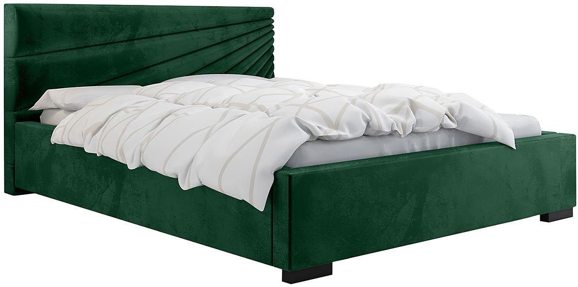 Tapicerowane łóżko ze stelażem 160x200 Lander 2X - 48 kolorów