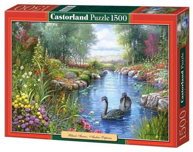 Puzzle 1500 Czarne łabędzie CASTOR - Castorland