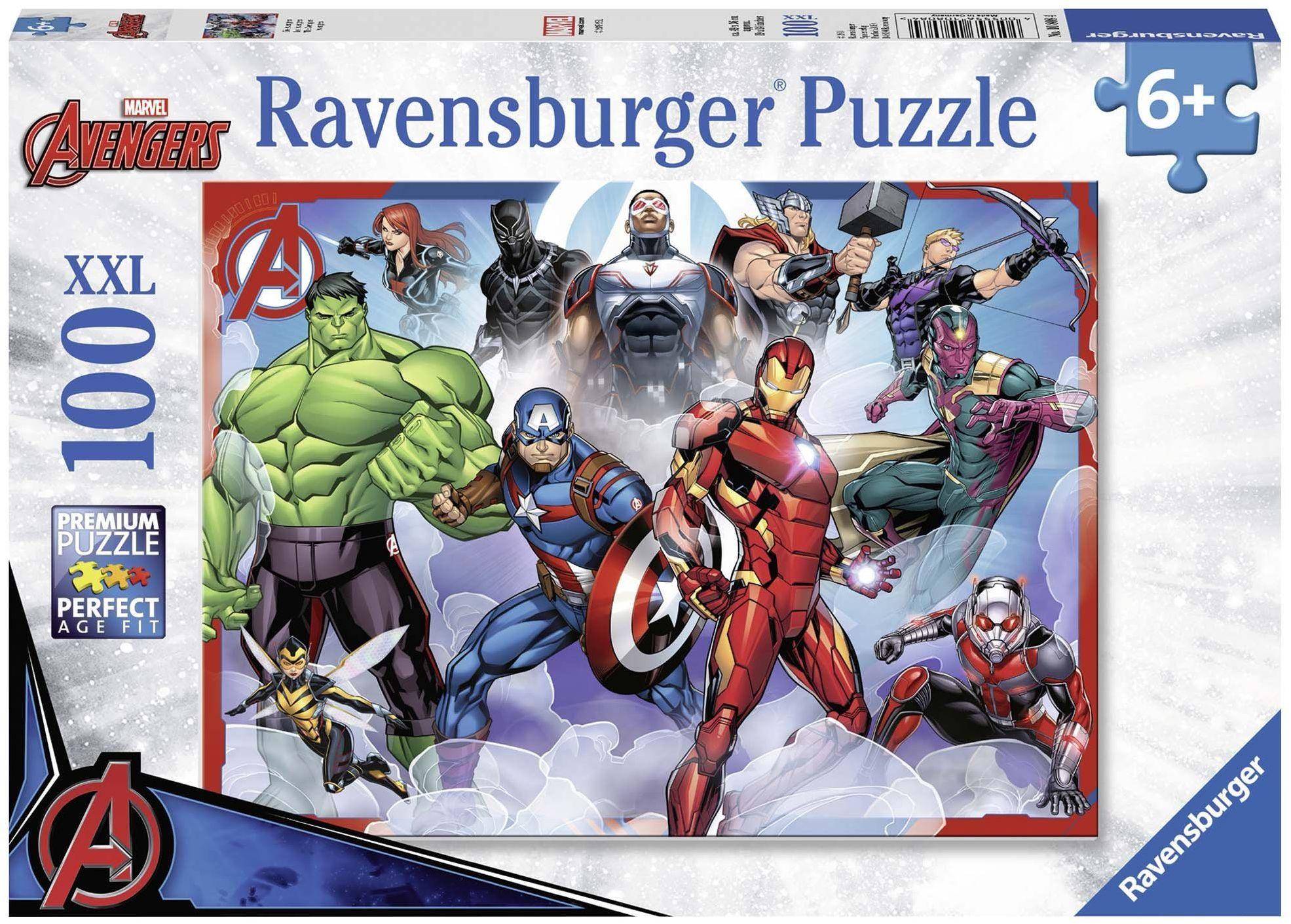 Ravensburger Marvel Avengers  100 sztuk puzzli z bardzo dużymi elementami dla dzieci w wieku od 6 lat