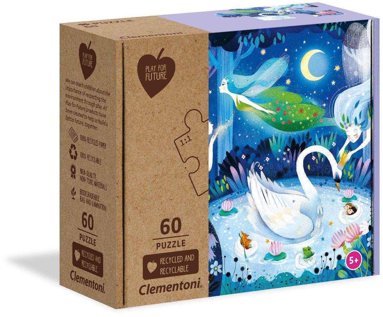 Clementoni 26997 Zaczarowana noc - 60 sztuk - wyprodukowano we Włoszech - 100% materiały z recyklingu, puzzle dla dzieci