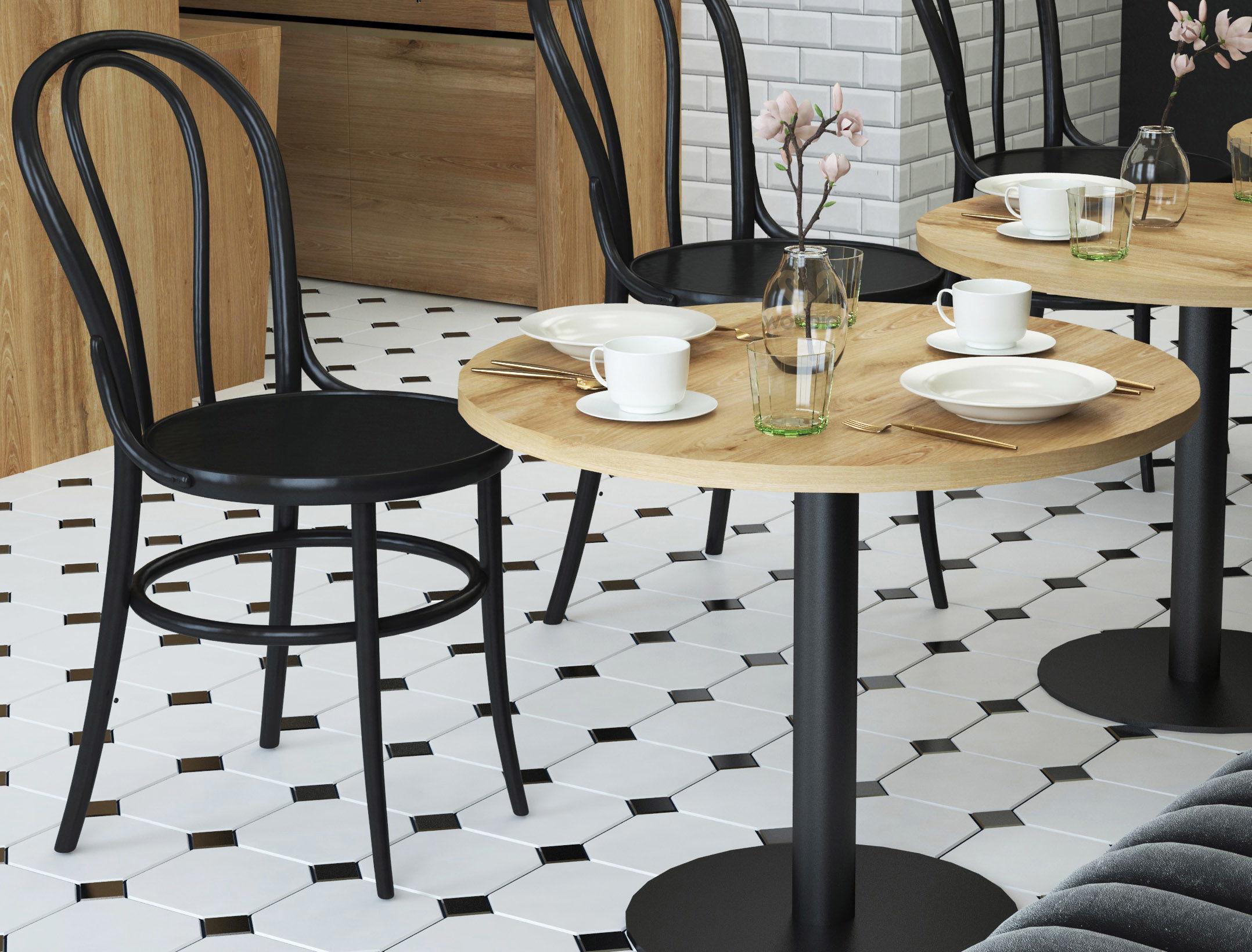 Stolik dębowy do kawiarni okrągły