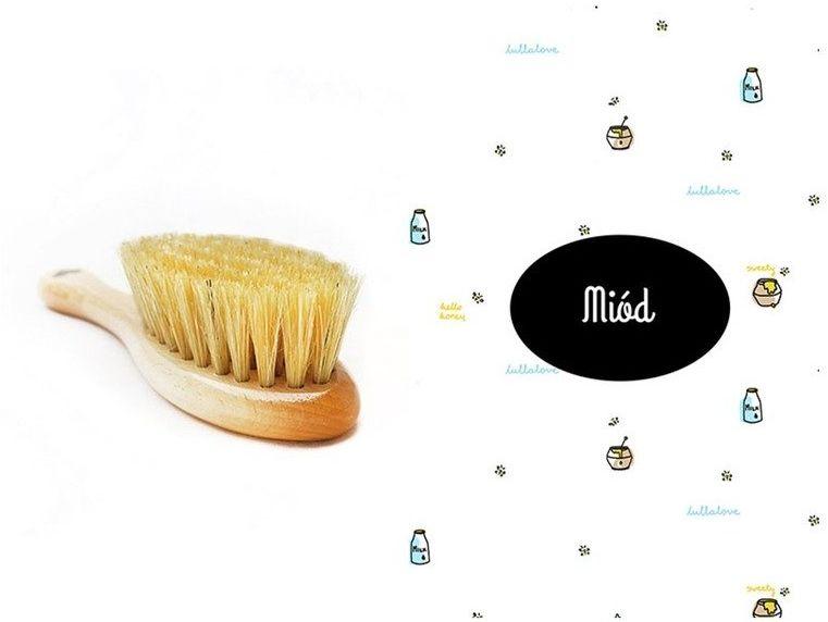 Szczotka i myjka Miód LL0096-Lullalove, wyprawka dla niemowlaka