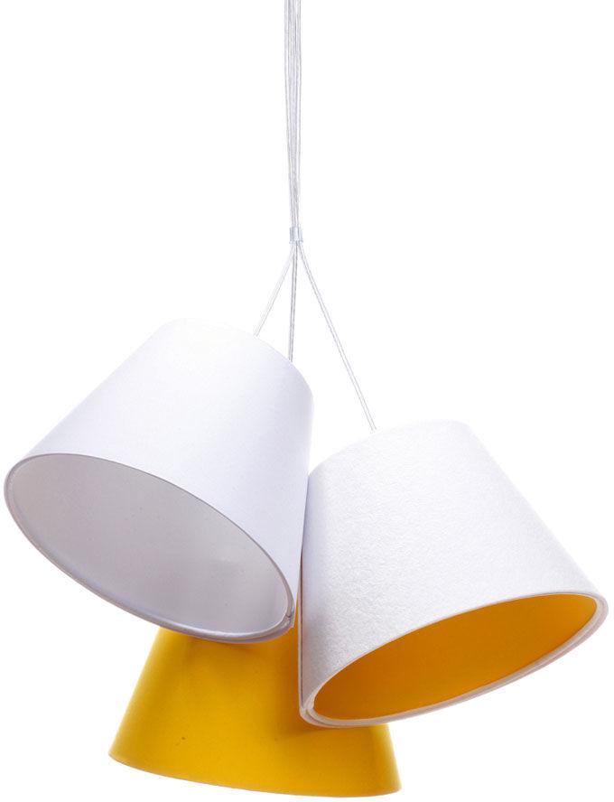 Biało-pomarańczowa lampa wisząca dzwonki dla dzieci - EXX72-Mirella