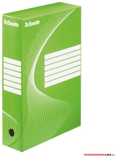 Pudełka archiwizacyjne ESSELTE BOXY 80mm zielone 128414