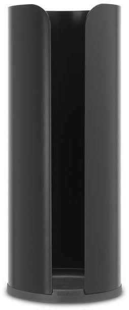 Brabantia - uchwyt na papier toaletowy renew collection - czarny matowy - czarny
