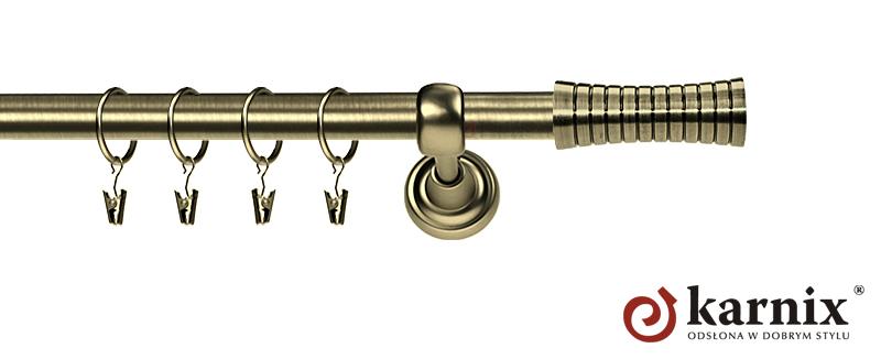 Karnisze Metalowe Rzymskie pojedynczy 19mm Gao antyk mosiądz